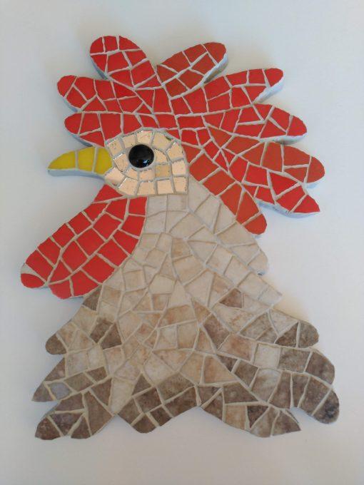 Mosaico Gallo de Brujas 3 | Arte del Mosaico Gallo de Brujas número 1 de la seria realizado de forma totalmente artesanal.