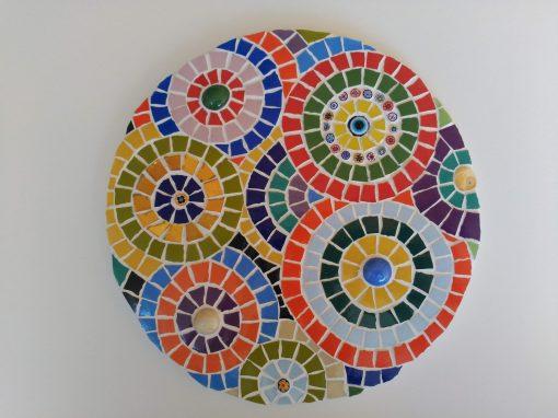 Mosaico Mandala de Color | Arte del Mosaico. Realizado de forma totalmente artesanal.