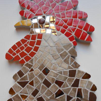 Mosaico Gallo de Brujas 3 | Arte del Mosaico Gallo de Brujas número 2 de la seria realizado de forma totalmente artesanal.