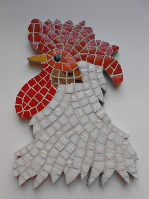 Mosaico Gallo de Brujas 4 | Arte del Mosaico Gallo de Brujas número 4 de la seria realizado de forma totalmente artesanal