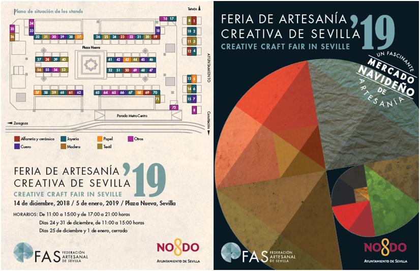Inauguración de la Feria de Artesanía Creativa en Sevilla, Mercado de Navidad