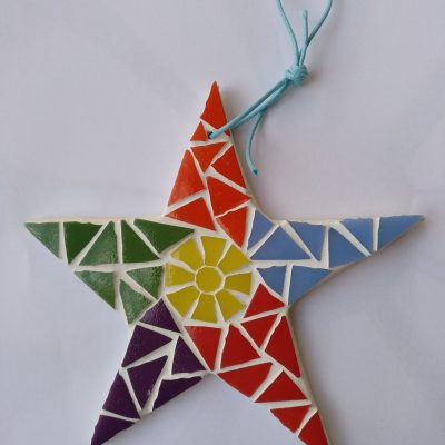 mosaico estrella pequeña