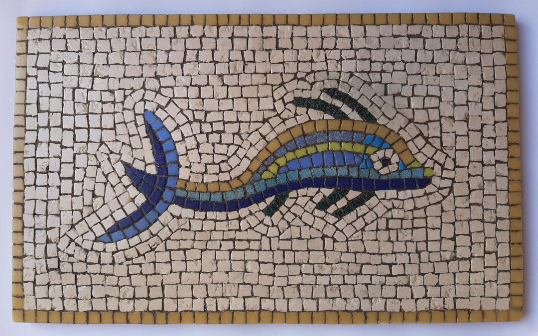 Mosaico Peces para mesita