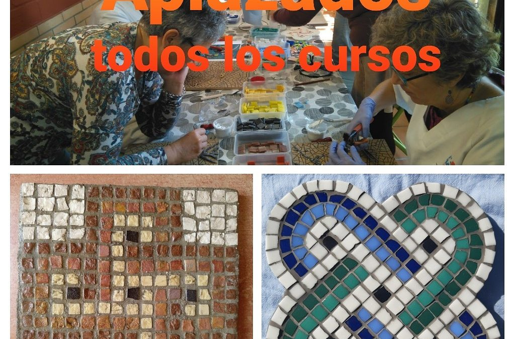 AVISO IMPORTANTE: Aplazados Todos los Talleres de Mosaico